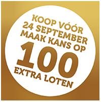 vroegkoopactie 100 extra loten